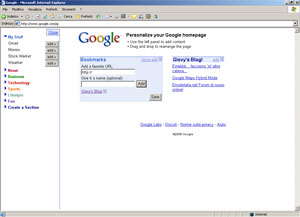 La nuova home page personalizzata, con feed e bookmark