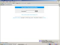 Schermata login Amministratore