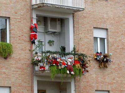 Balcone trash natalizio