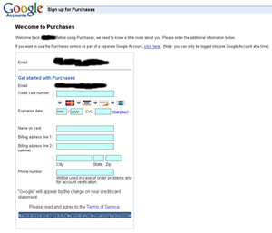 Google Purchases???