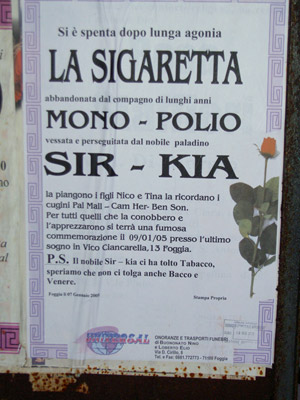 La sigaretta è morta!