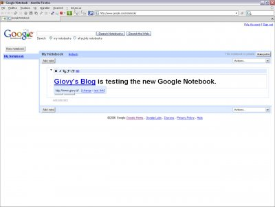 Google Notebook 02