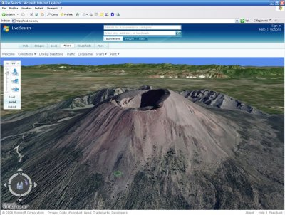 Vesuvio 3D su Microsoft Virtual Earth