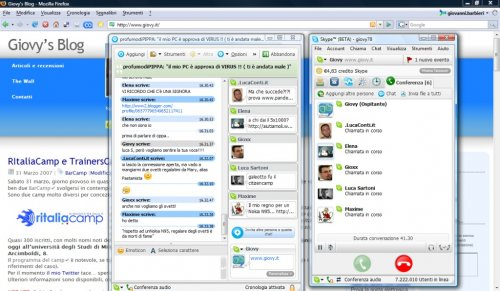 Multichat in Skype