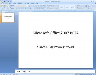 Microsoft PowerPoint 2007 Beta 1 01