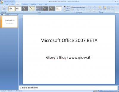 Microsoft PowerPoint 2007 Beta 1 04