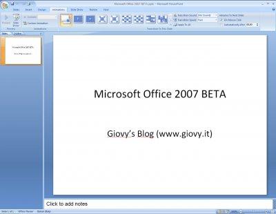 Microsoft PowerPoint 2007 Beta 1 05