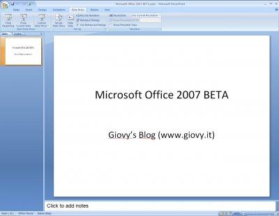 Microsoft PowerPoint 2007 Beta 1 06