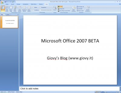 Microsoft PowerPoint 2007 Beta 1 08