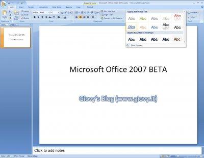 Microsoft PowerPoint 2007 Beta 1 02