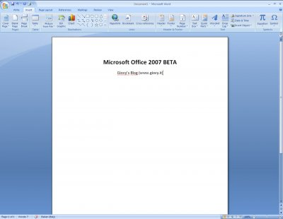 Microsoft Word 2007 Beta 1 03