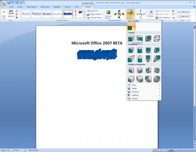 Microsoft Word 2007 Beta 1 04