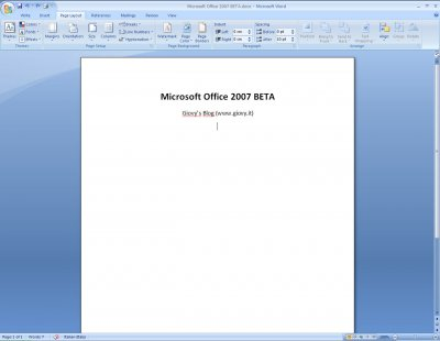 Microsoft Word 2007 Beta 1 05