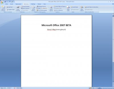 Microsoft Word 2007 Beta 1 06