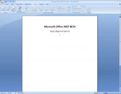 Microsoft Word 2007 Beta 1 07