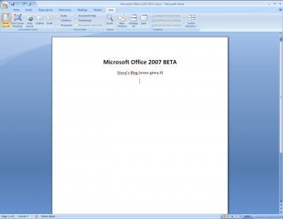 Microsoft Word 2007 Beta 1 09