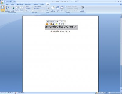 Microsoft Word 2007 Beta 1 10