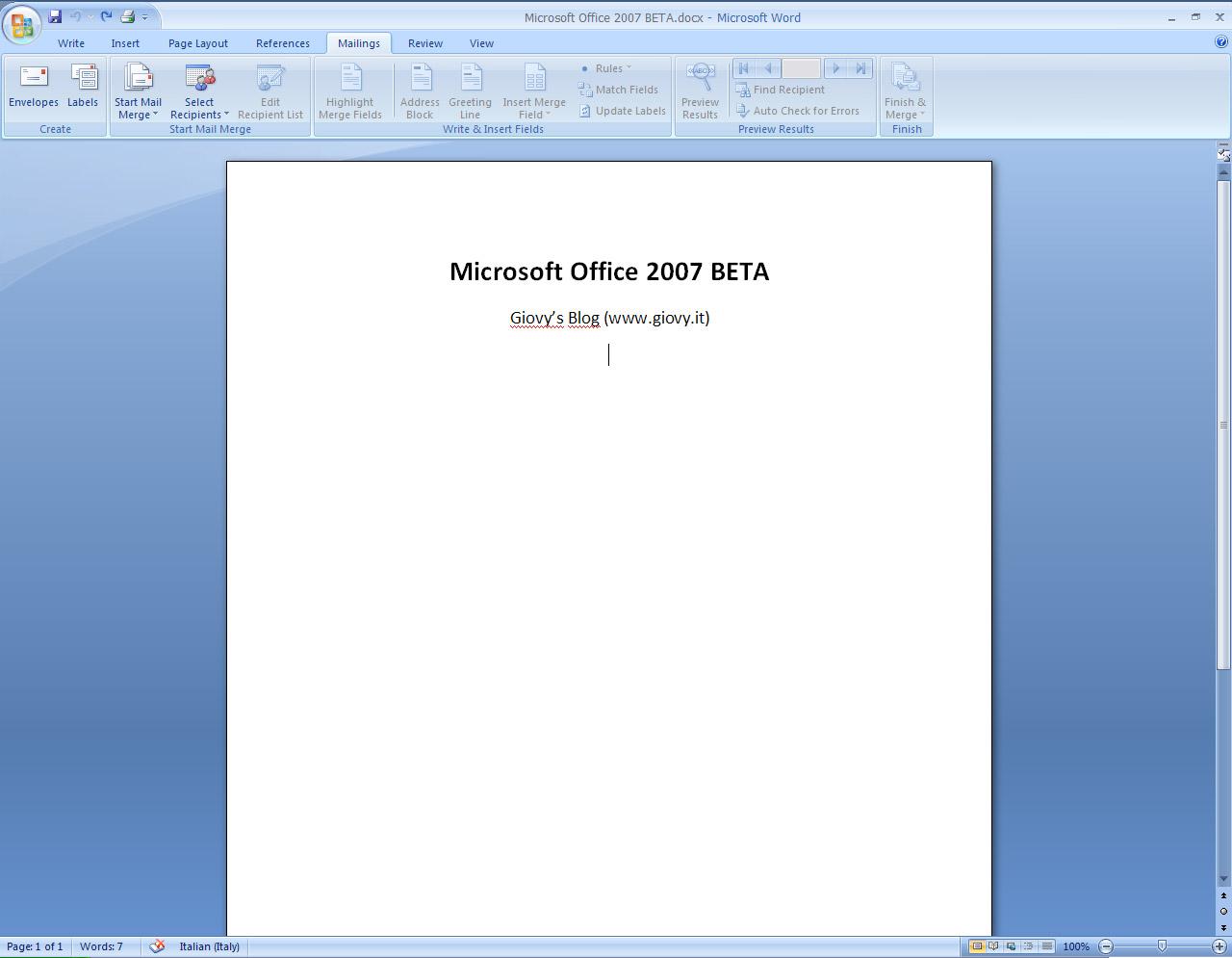Office 2007 odbc