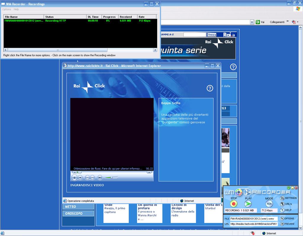 Registrare streaming video di qualunque filmato - La finestra di fronte streaming ...